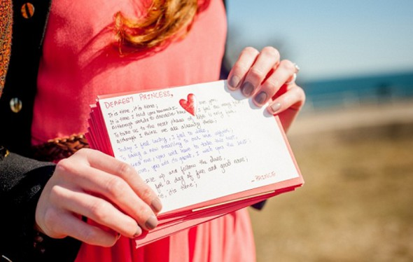 Wedding proposal treasure hunt