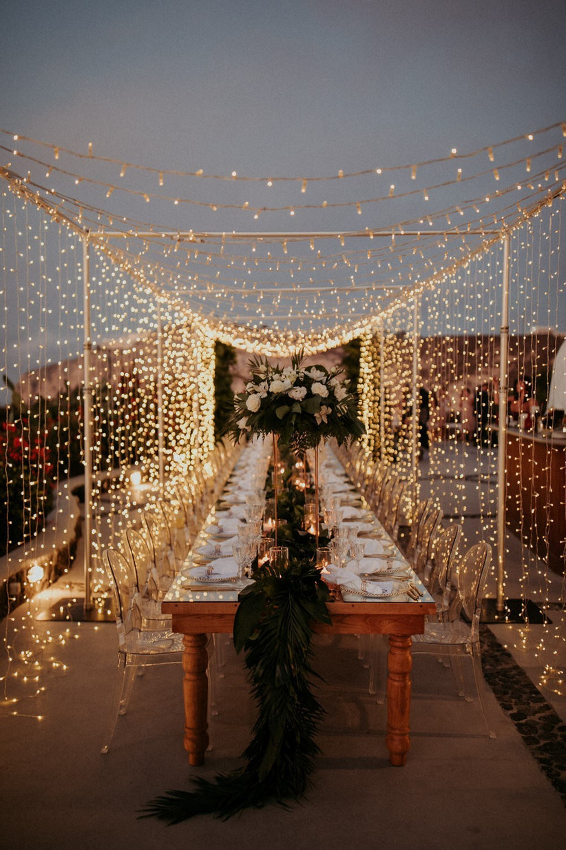 Garden Wedding Lighting