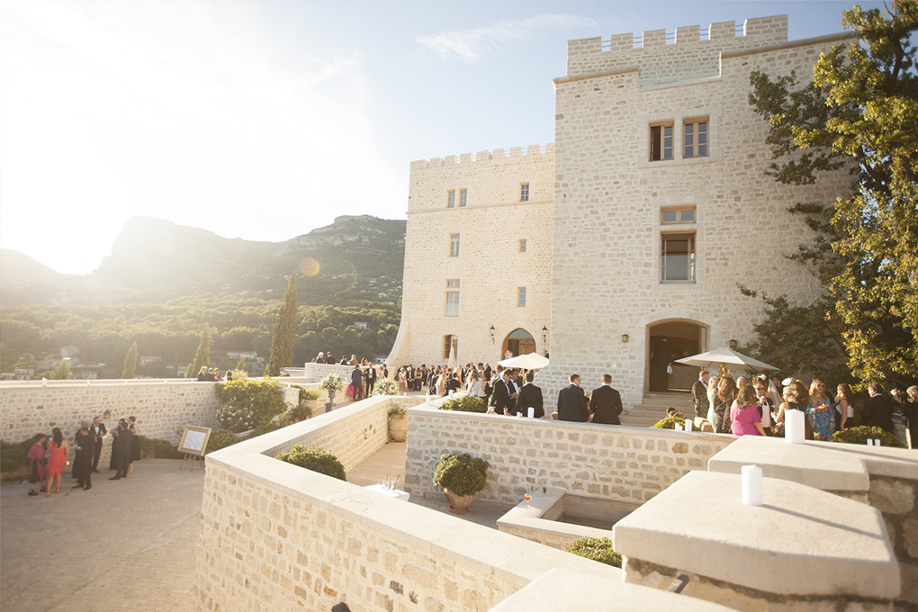 getting married in the south of France castle