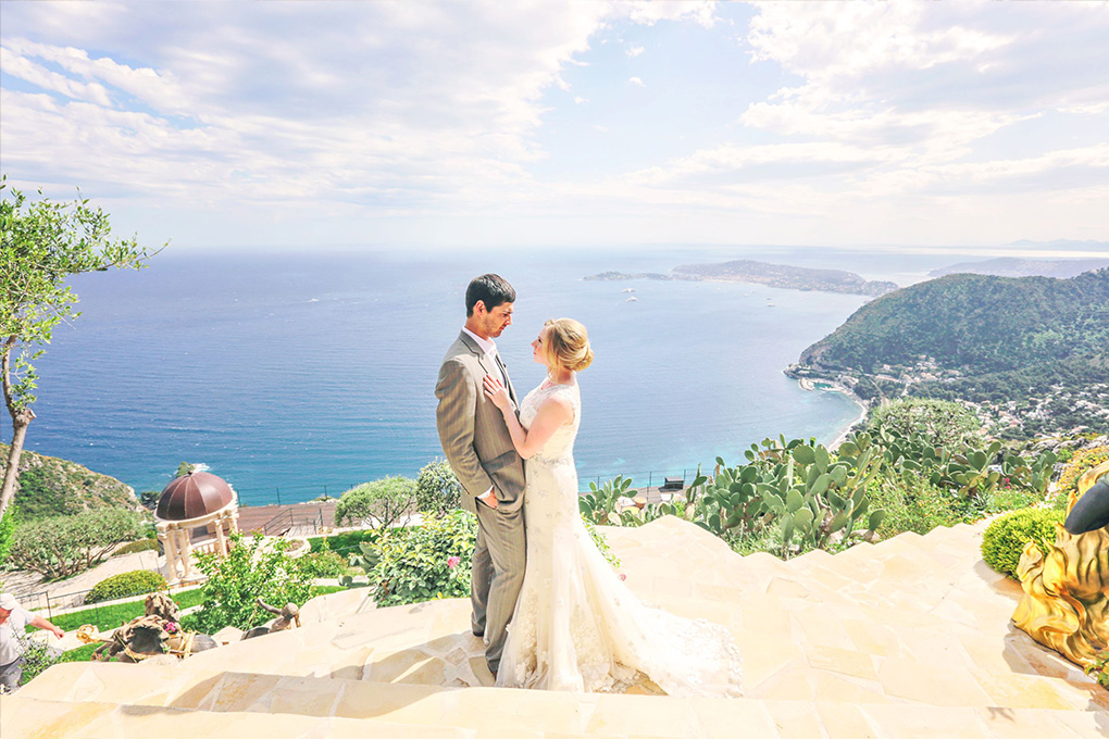 getting married in the south of France sea view